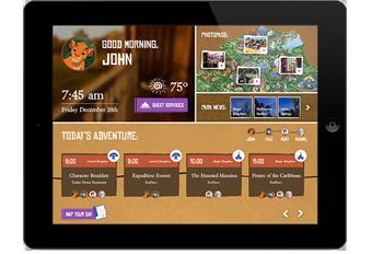 Walt Disney World In-Room Technology Interface