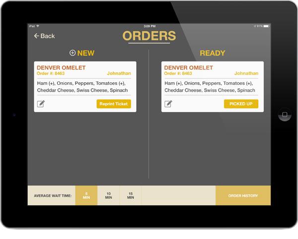 Omelet-Kiosk-Chef-Order-screen-UI-mockup