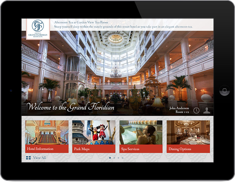 Intelity Guest Service Technology branded to Walt Disney World's Grand Floridian Resort