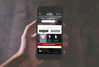 Hard Rock Hotel App Redesign