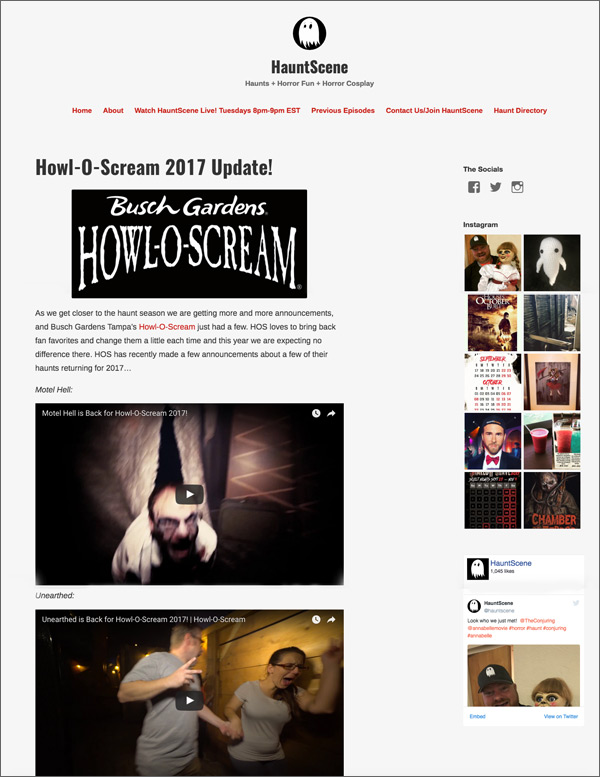 hauntscene-homepage-before-redesign