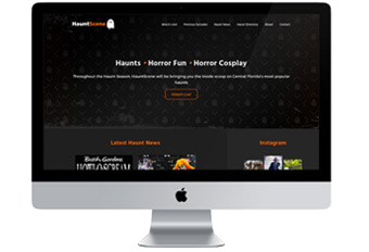 HauntScene Website Redesign
